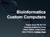 Bioinformatics Custom Computers