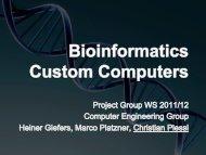 Bioinformatics Custom Computing