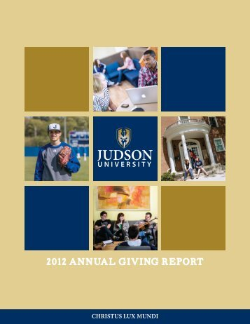 Download the 2011-2012 Annual Report - Judson University
