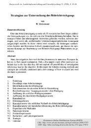 Strategien zur Untersuchung des Röhrichtrückgangs - KOPS ...