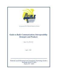 Guide to Radio Communications Interoperability ... - SafeCom