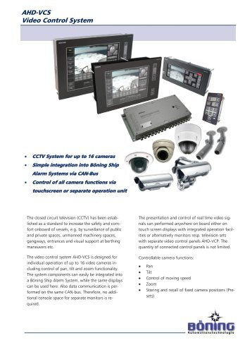 AHD-VCS Video Control System