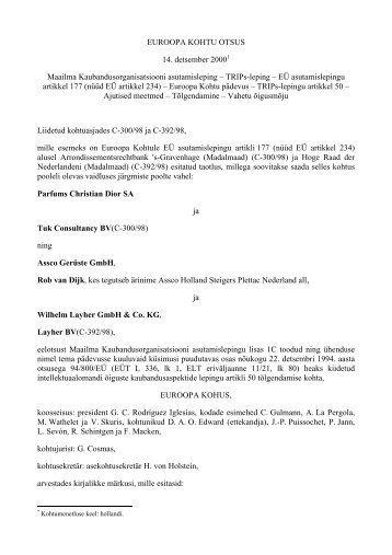 TRIPs-leping – EÜ asutamislepingu