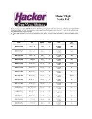 Hacker ESC Programming guide