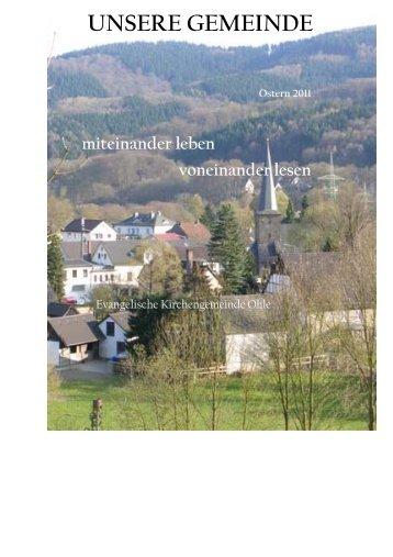 UNSERE GEMEINDE - Ev. Kirchenkreis Lüdenscheid Plettenberg