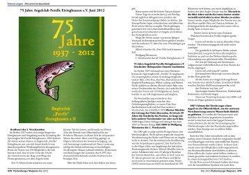 75 Jahre Angelclub Forelle Eiringhausen e.V. Juni 2012 - von ...
