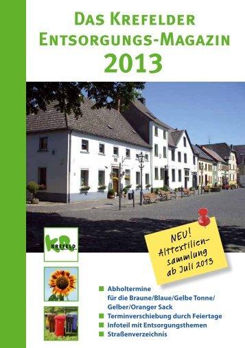 Das Krefelder Entsorgungsmagazin 2013 - EGN ...