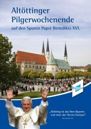 Auf den Spuren Papst Benedikts XVI. - Altötting