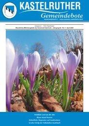 Kastelruther Gemeindebote - Ausgabe April 2009 (2,96 MB