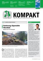 GAB KOMPAKT 04/2012 8-seitiges Magazin - GAB Gesellschaft zur ...