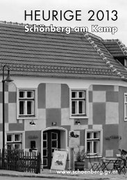 Heurigenkalender 2013 - Gemeinde Schönberg am Kamp