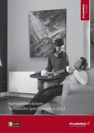 Kompaktheizkörper Technische Spezifikation 2-2012