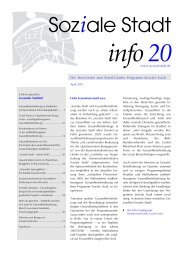 Soziale Stadt info 20; April 2007
