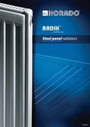 RADIK are steel panel radiators - KORADO, as