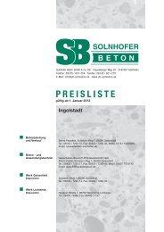 Preisliste Ingolstadt - Solnhofer Beton