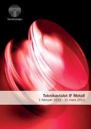 Teknikavtalet IF Metall - Teknikföretagen