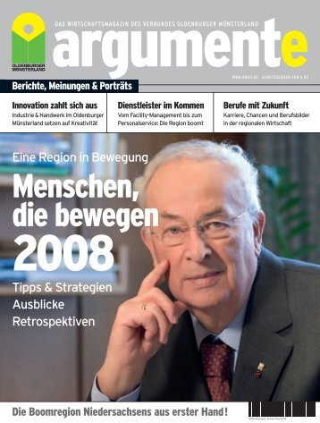 argumente 2008 - Verbund Oldenburger Münsterland