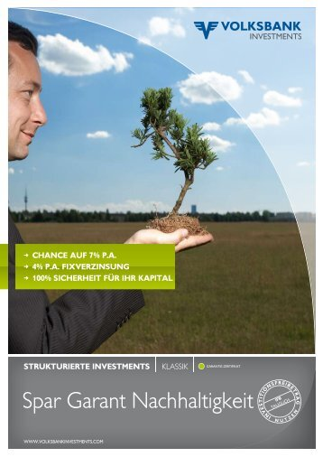 Spar Garant Nachhaltigkeit