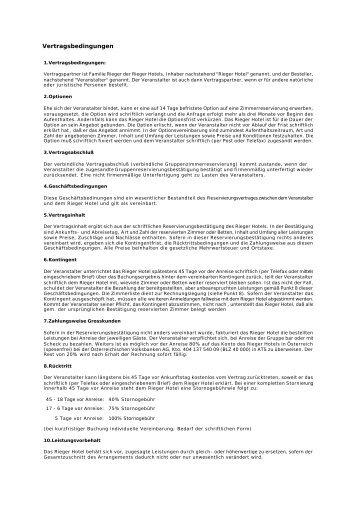 Vertragsbedingungen - Wienerwaldhof