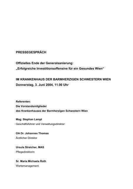 Investitionsoffensive - Vinzenz Gruppe