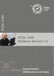 ECDL CAD Syllabus Version 1.5 ECDL CAD