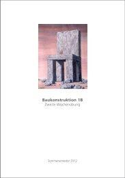 Baukonstruktion 1B - TU Dortmund