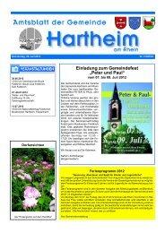 Gemeindeblatt 2012 KW 26 - Gemeinde Hartheim