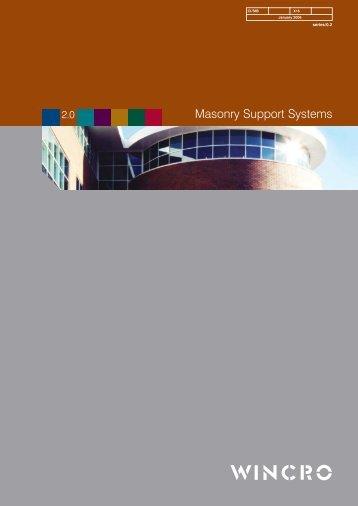 Masonry support systems - Wincro Metal Industries Ltd