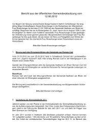 Bericht aus der - Gemeinde Hartheim