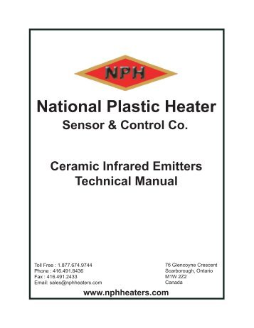 Ceramic Infrared Heaters - Technical Manual - National Plastic Heater