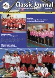 Classic Journal Online 85.2011 - Deutscher Kegler