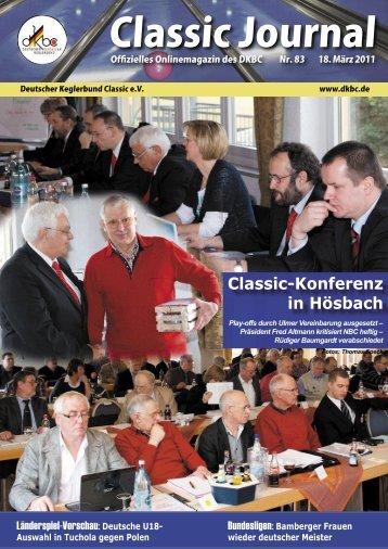 Classic Journal Online 83.2011 - Deutscher Kegler