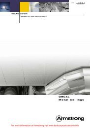 ORCAL Metal Ceilings - Barbour Product Search