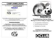 Freizeitzentrum Zell am Ziller Montag, 30. Juli bis Freitag, 03. August ...
