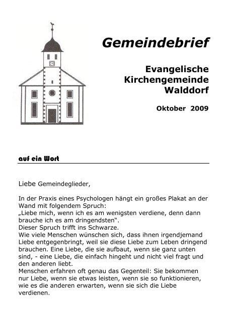 Gemeindebrief - Evangelische Kirchengemeinde Walddorf