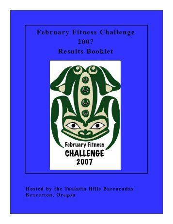 February Fitness Challenge 2007 Results Booklet - Tualatin Hills ...