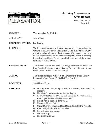 Civic Arts Commission Staff Report  City Of Pleasanton