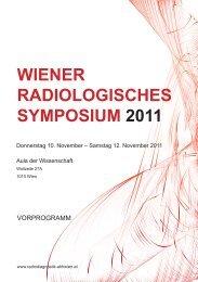 WIENER RADIOLOGISCHES SYMPOSIUM 2011