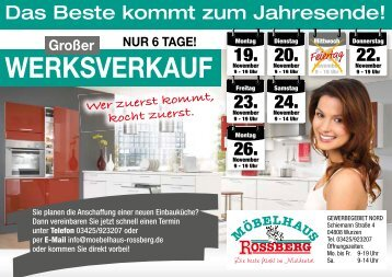 WERKSVERKAUF - Möbelhaus Roßberg