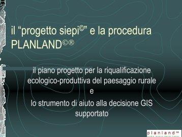 """il """"progetto siepi©"""" e la procedura PLANLAND©® - Franco, Daniel"""