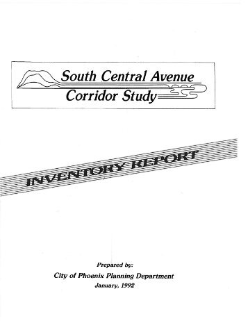 South Central Avenue Corridor Study - City of Phoenix