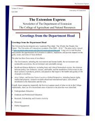 The Extension Express - Cooperative Extension System - University ...