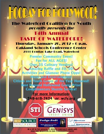 14th Annual Taste of Waterford! - Waterford Coalition for Youth