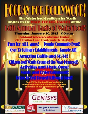 You're invited to the 14th Annual Taste of Waterford!