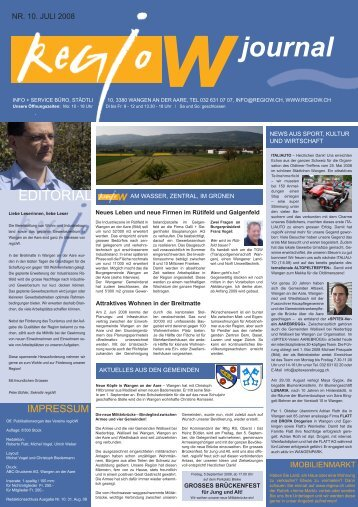 Nr. 10 / Juli 2008 - Regio W