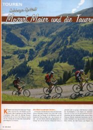 Bikesportnews April 2008 - Hotel Tauernhof