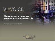 Marketing Ethnique : Enjeux et Opportunités - Viavoice