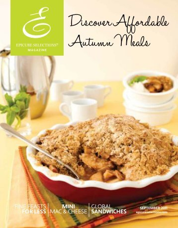 discover affordable autumn meals issue - My Epicure
