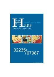 Pizza- & Partyservice immer ein Genuss - Stöps Pizza Haus