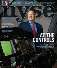 AT THE CONTDOLS - NYSE Magazine